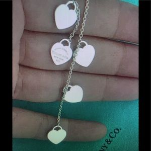 Tiffany & Co. 5 Heart Drop  lariat pendant